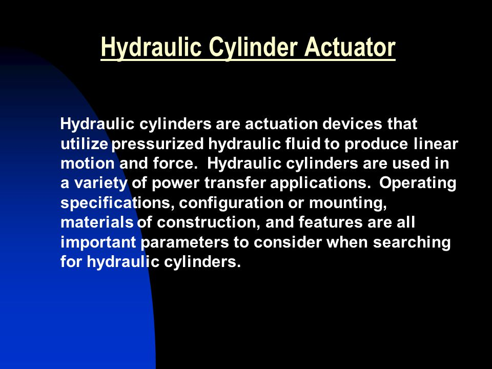 Hydraulic Cylinder Actuator