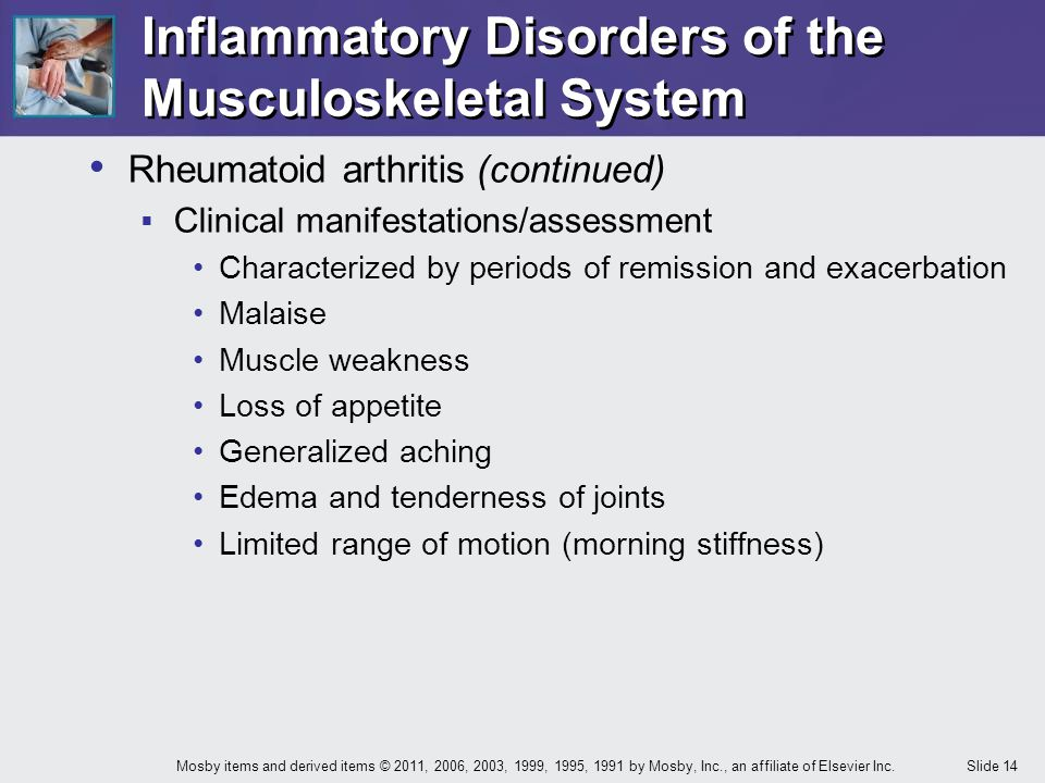 Inflammatory Disorders of the Musculoskeletal System