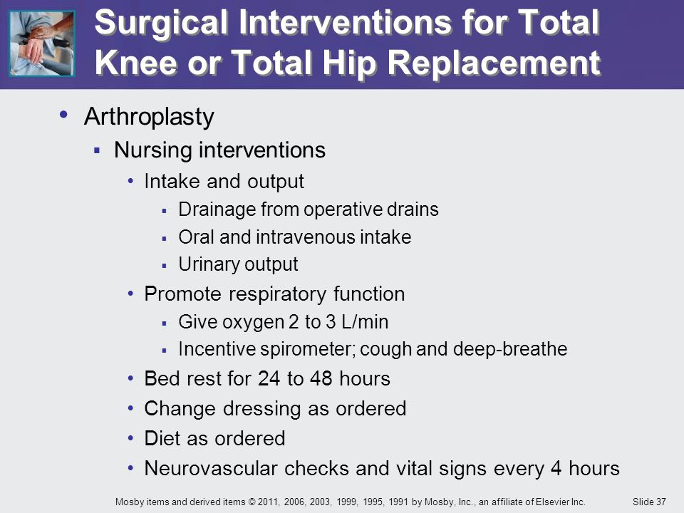 Surgical Interventions for Total Knee or Total Hip Replacement