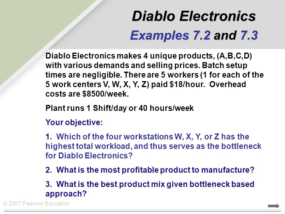 Diablo Electronics Examples 7.2 and 7.3