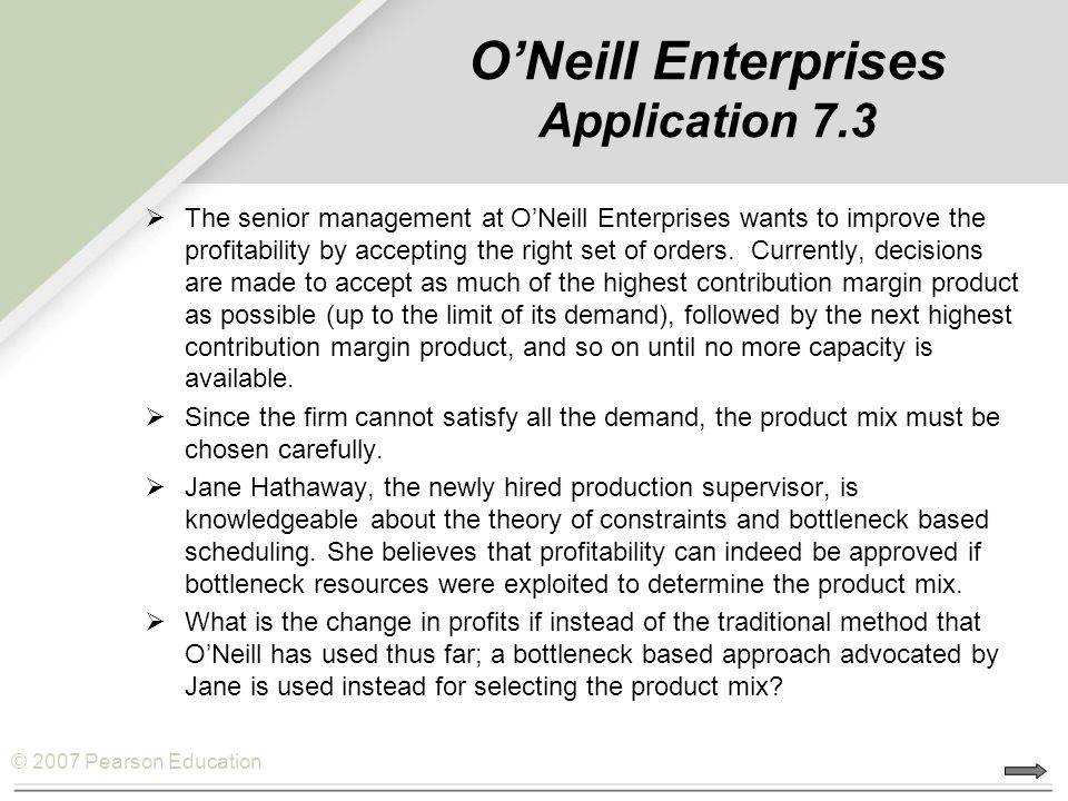 O'Neill Enterprises Application 7.3