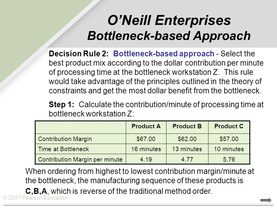 O'Neill Enterprises Bottleneck-based Approach
