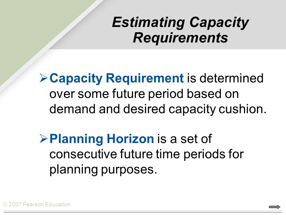 Estimating Capacity Requirements