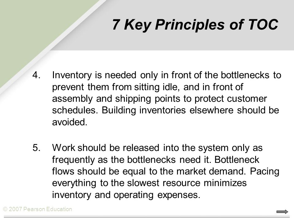 7 Key Principles of TOC