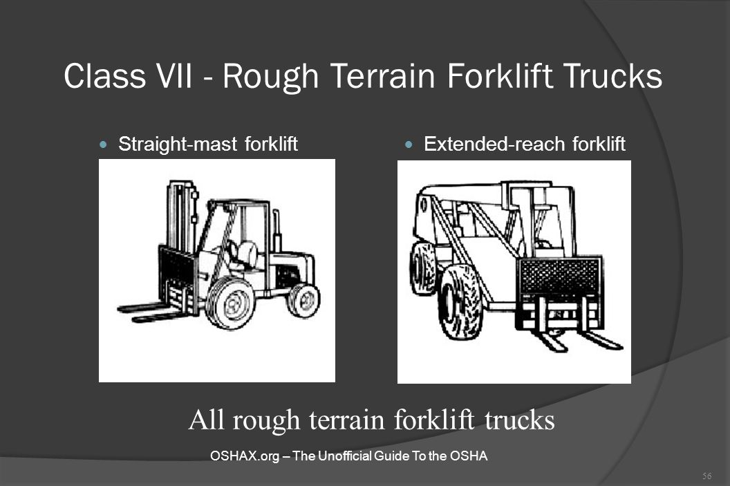 Class VII - Rough Terrain Forklift Trucks