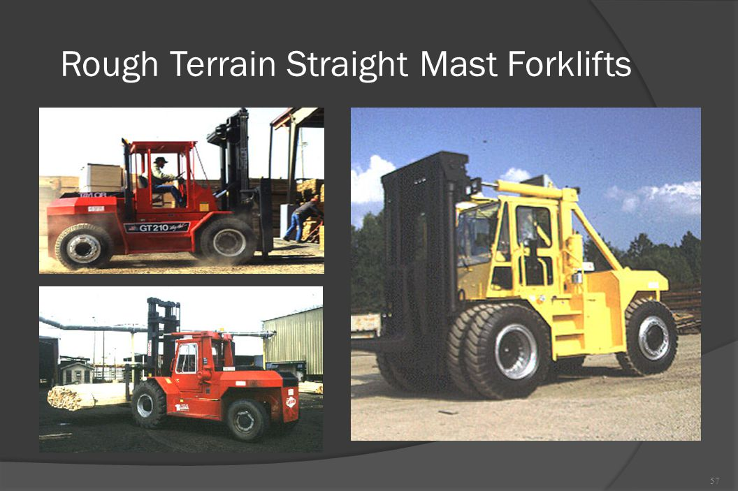 Rough Terrain Straight Mast Forklifts
