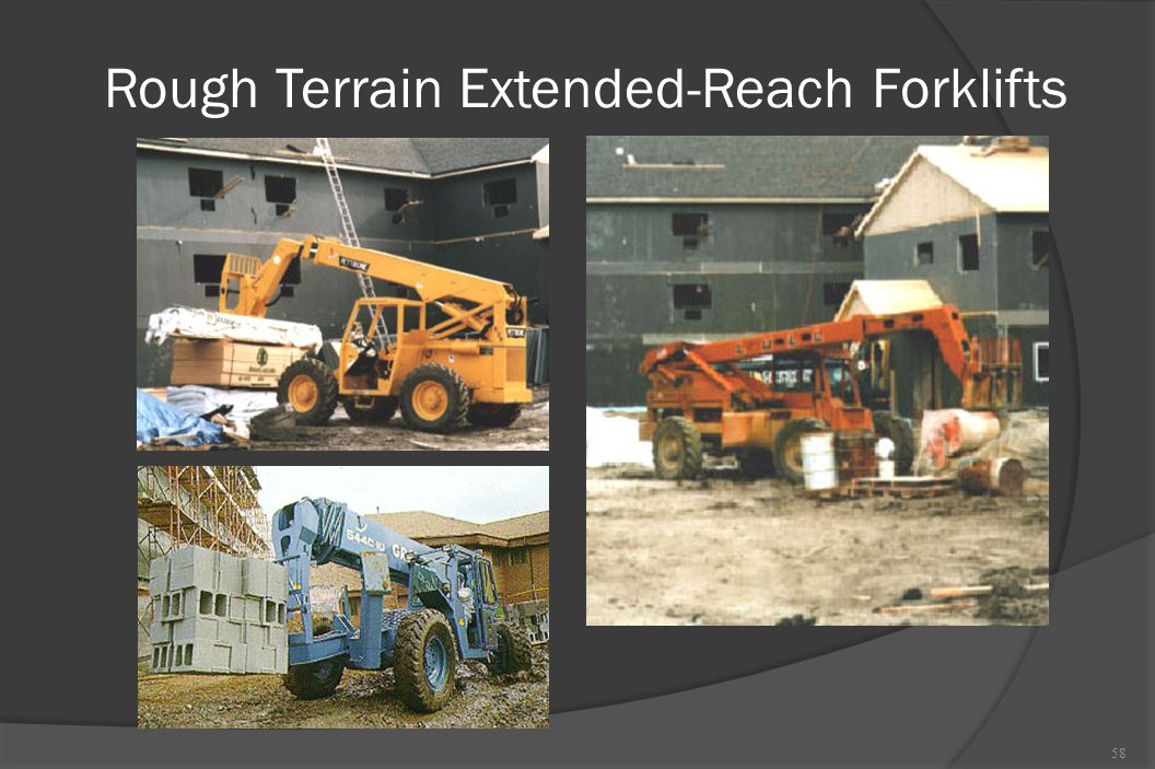 Rough Terrain Extended-Reach Forklifts