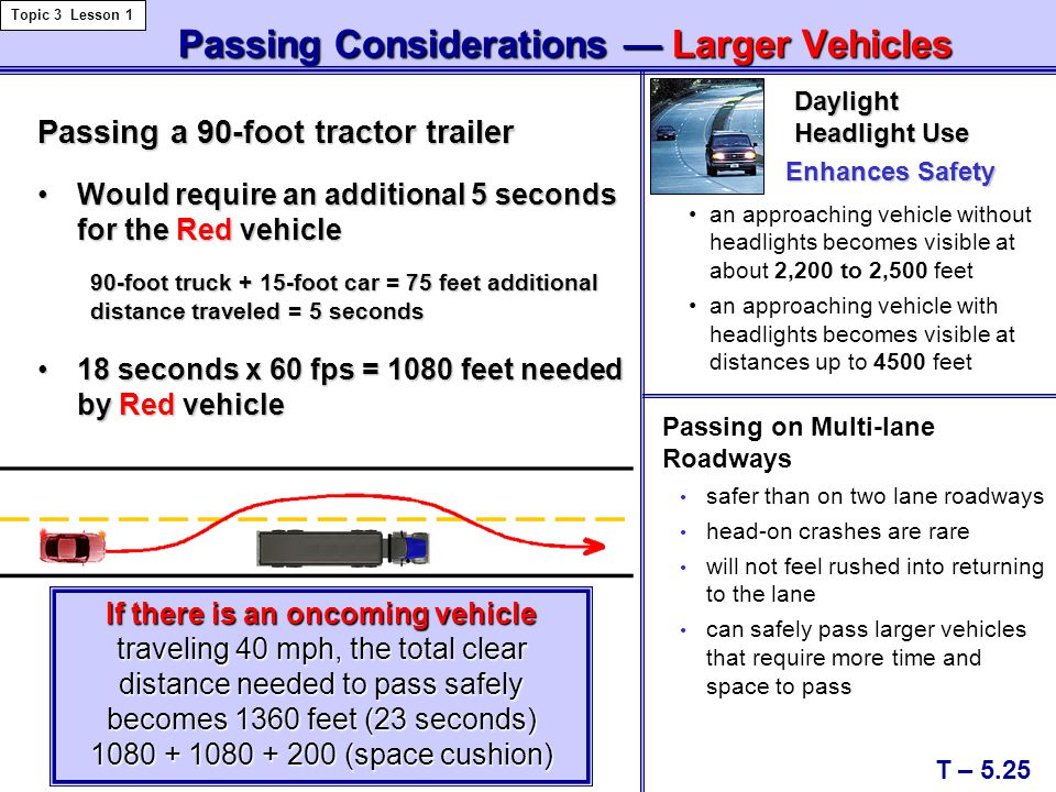 Passing Considerations — Larger Vehicles