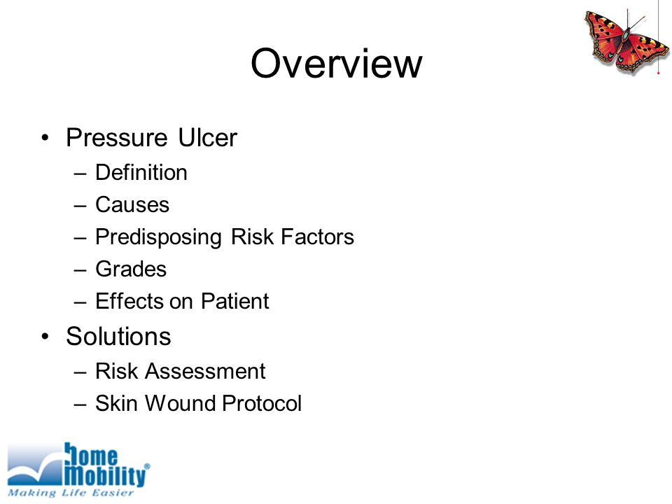 Overview Pressure Ulcer Solutions Definition Causes