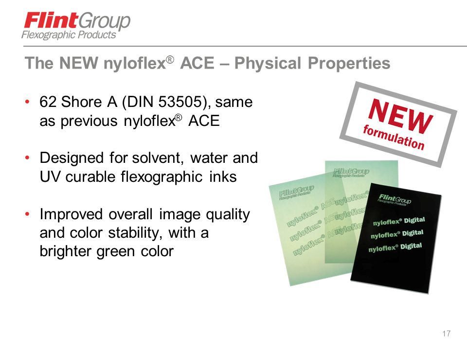 The NEW nyloflex® ACE – Physical Properties