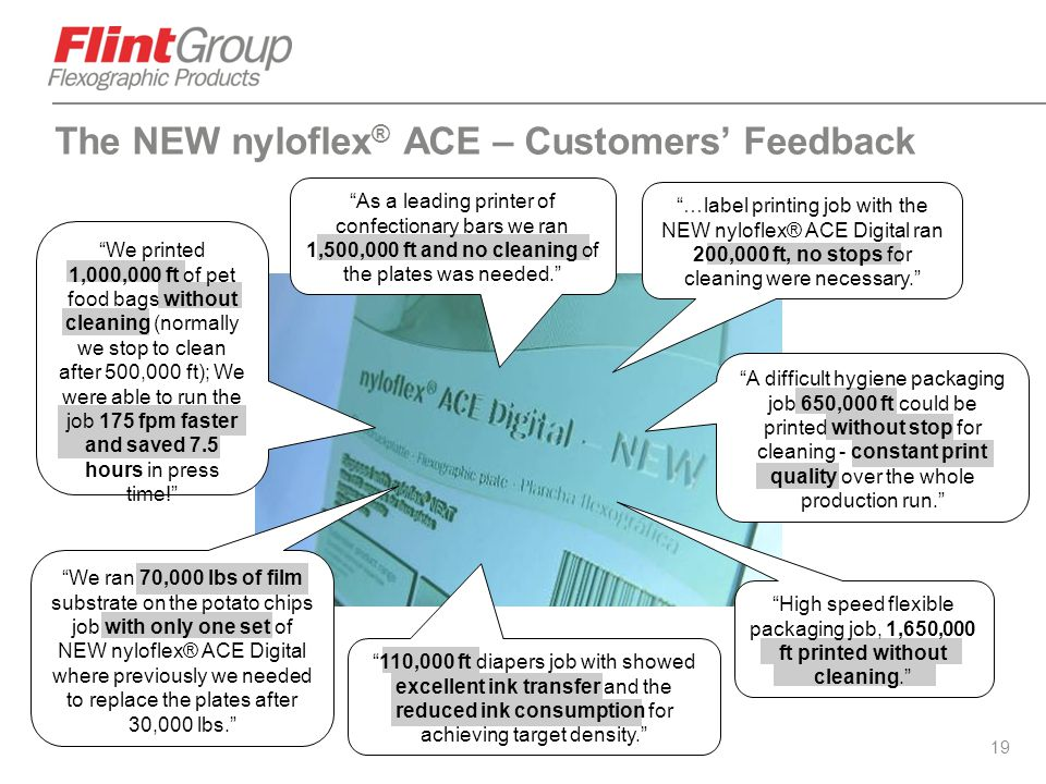The NEW nyloflex® ACE – Customers' Feedback