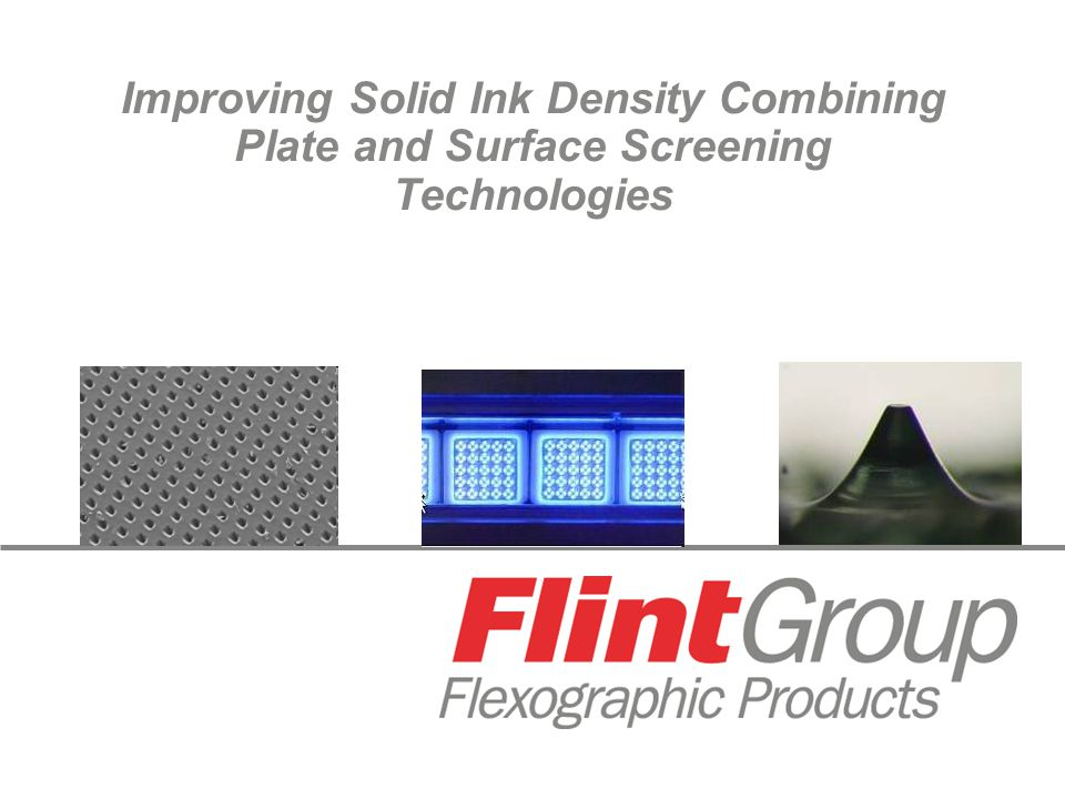 Improving Solid Ink Density Combining Plate and Surface Screening Technologies