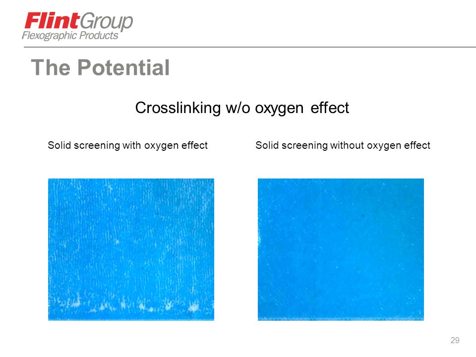 Crosslinking w/o oxygen effect