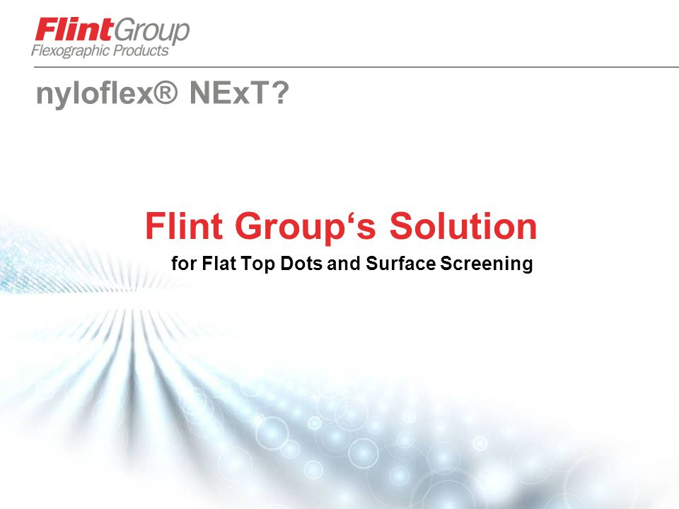 Flint Group's Solution for Flat Top Dots and Surface Screening