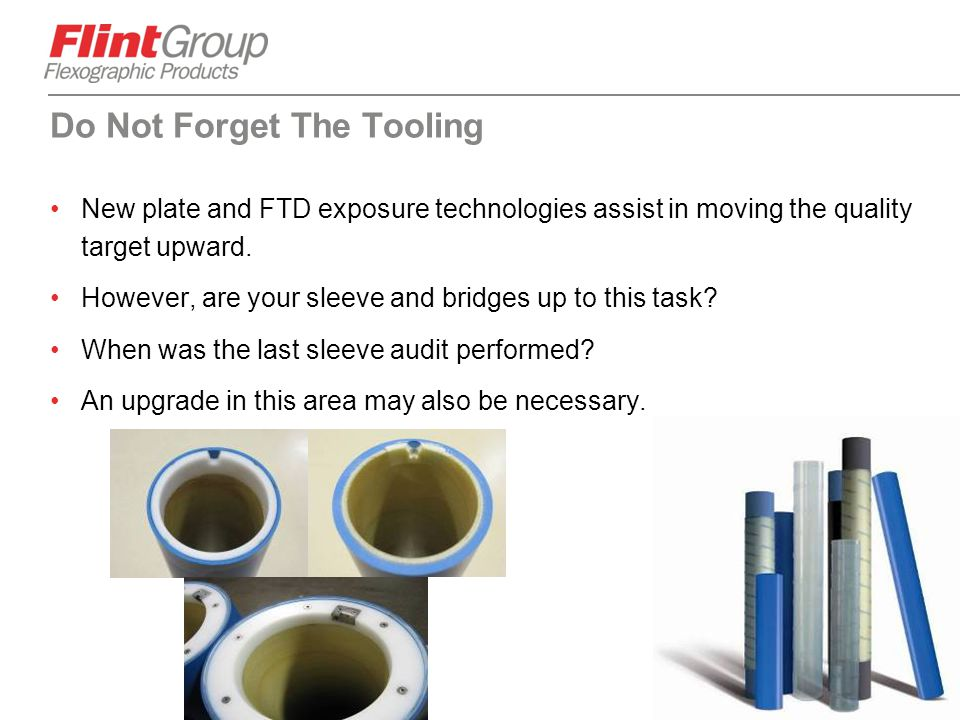 Do Not Forget The Tooling
