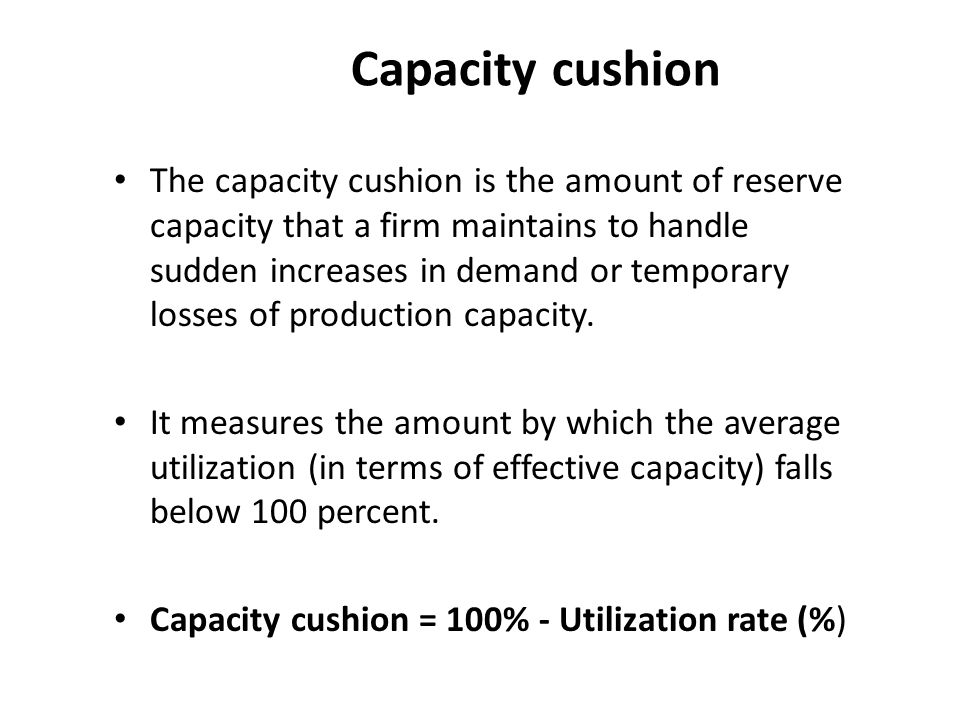 Capacity cushion