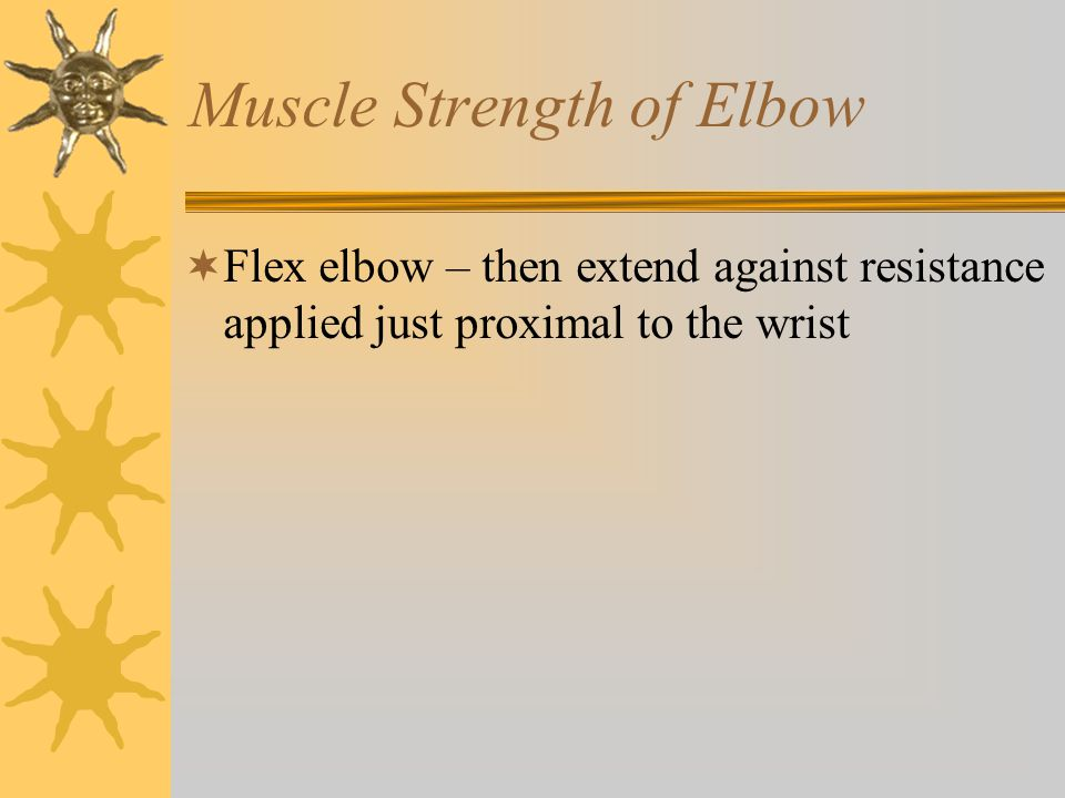 Muscle Strength of Elbow