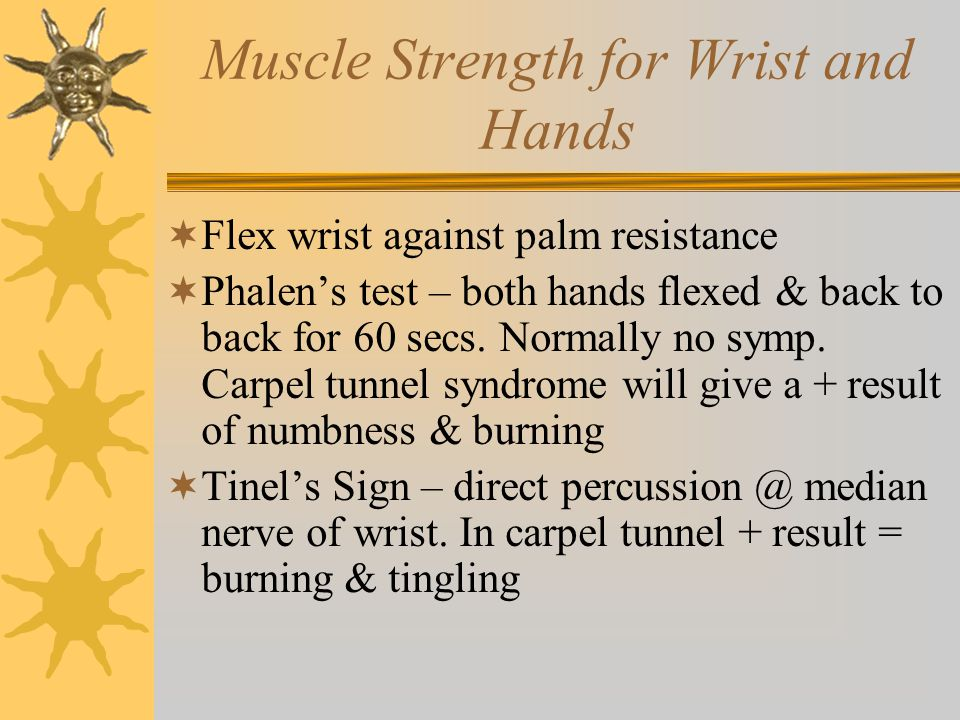 Muscle Strength for Wrist and Hands