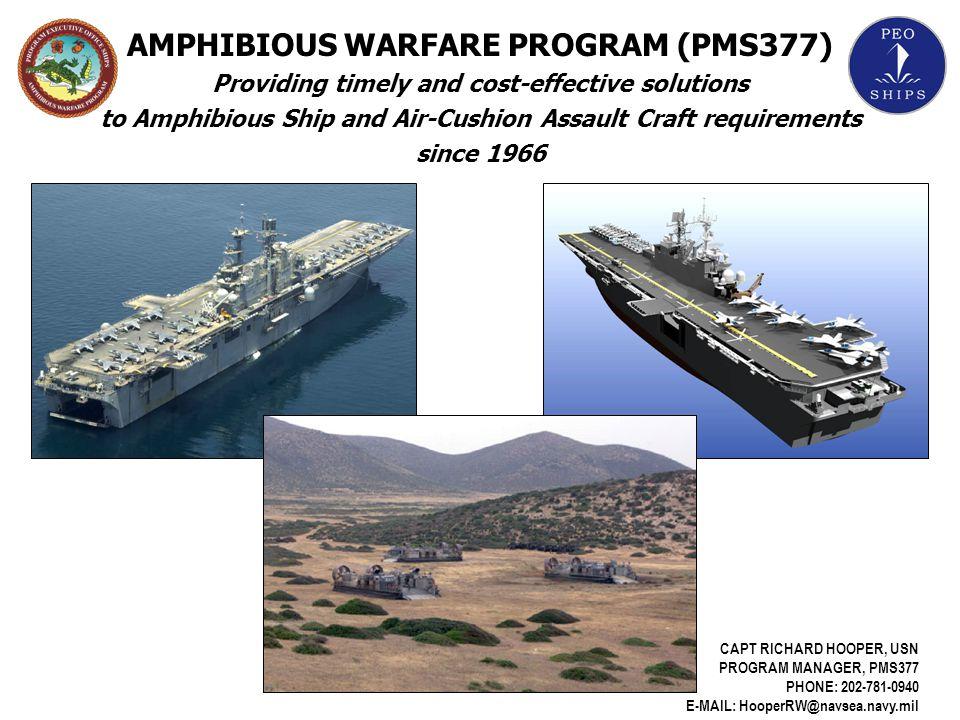 AMPHIBIOUS WARFARE PROGRAM (PMS377)