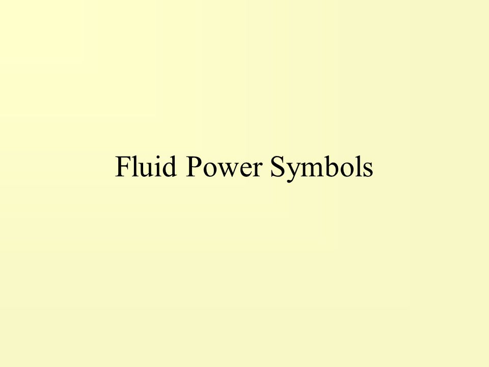 Fluid Power Symbols