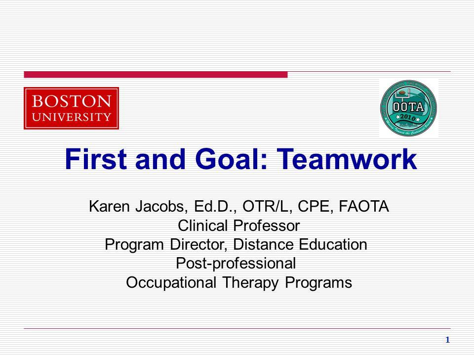 First and Goal: Teamwork