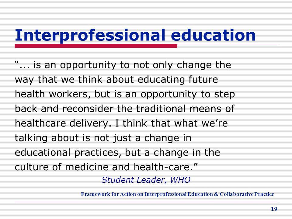 Interprofessional education