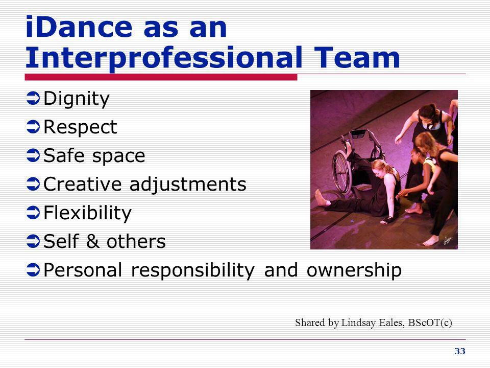 iDance as an Interprofessional Team