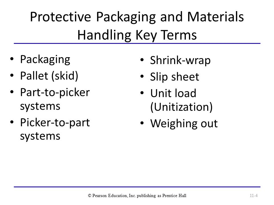 Protective Packaging and Materials Handling Key Terms