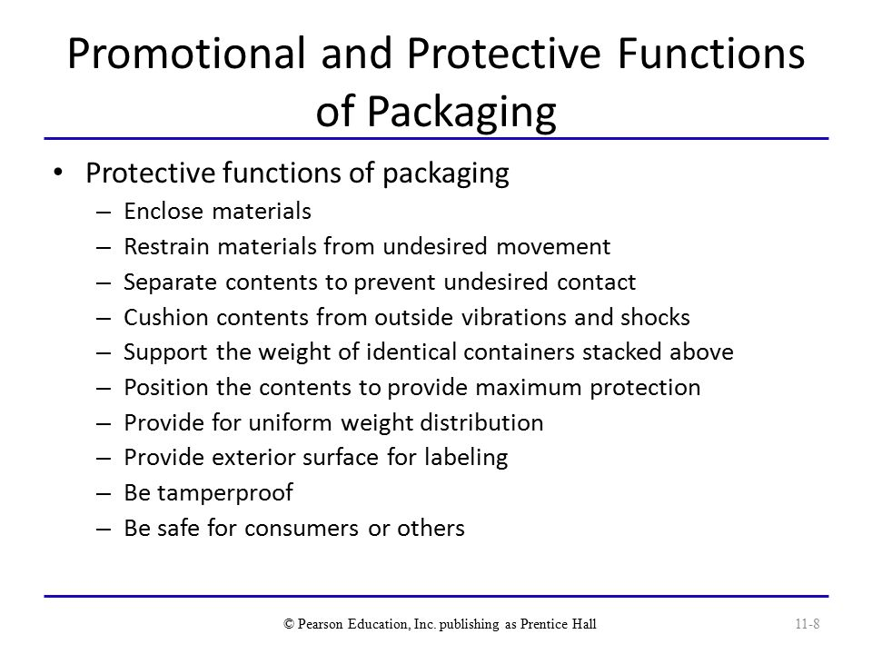 Promotional and Protective Functions of Packaging