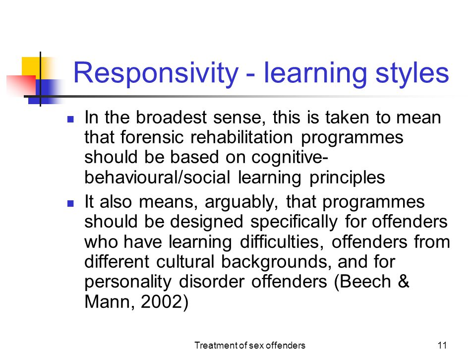 Responsivity - learning styles