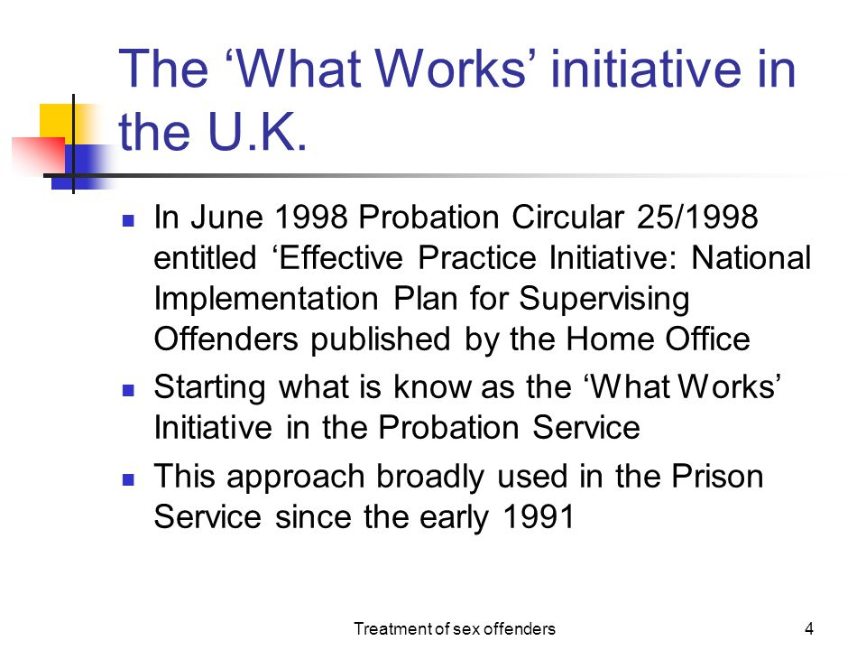 The 'What Works' initiative in the U.K.