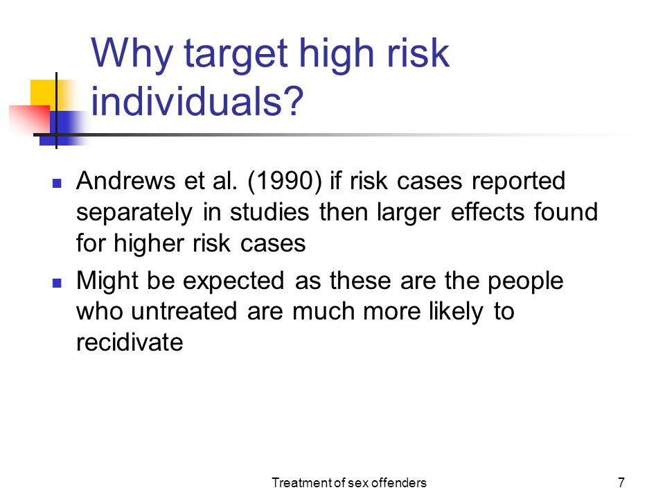 Why target high risk individuals