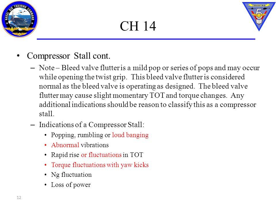 CH 14 Compressor Stall cont.
