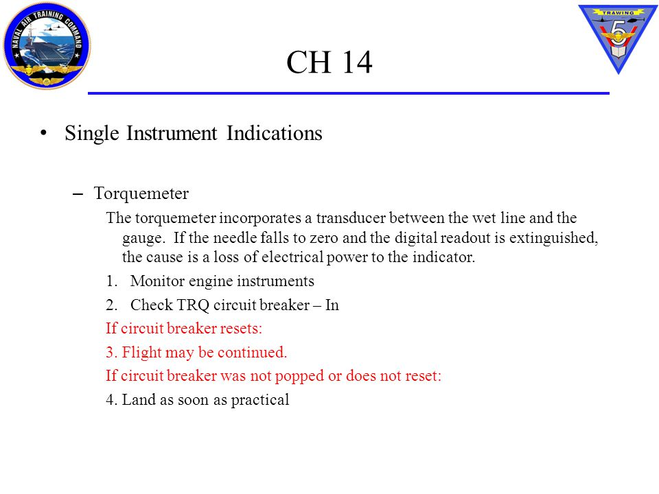 CH 14 Single Instrument Indications Torquemeter