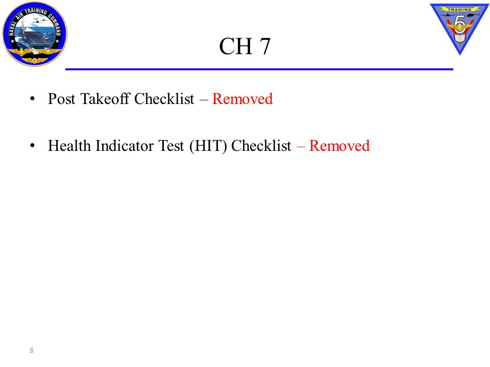 CH 7 Post Takeoff Checklist – Removed