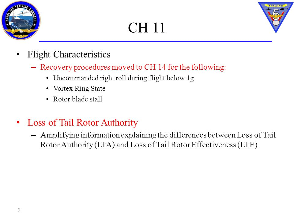 CH 11 Flight Characteristics Loss of Tail Rotor Authority
