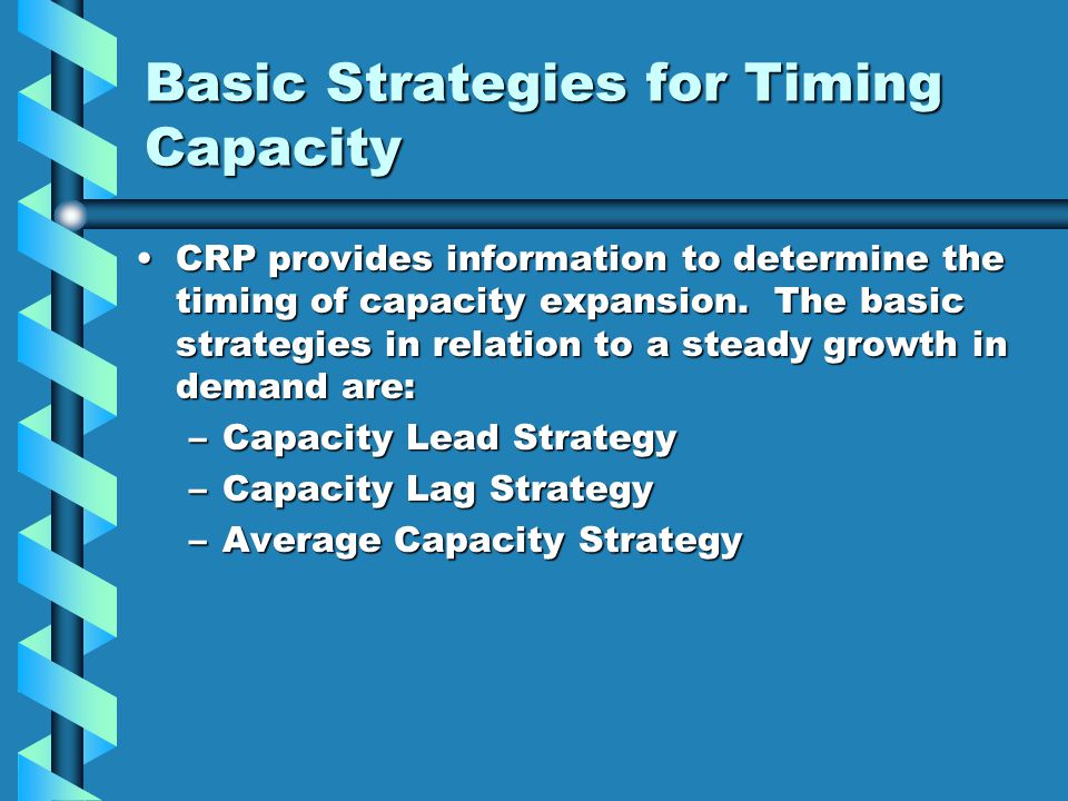 Basic Strategies for Timing Capacity