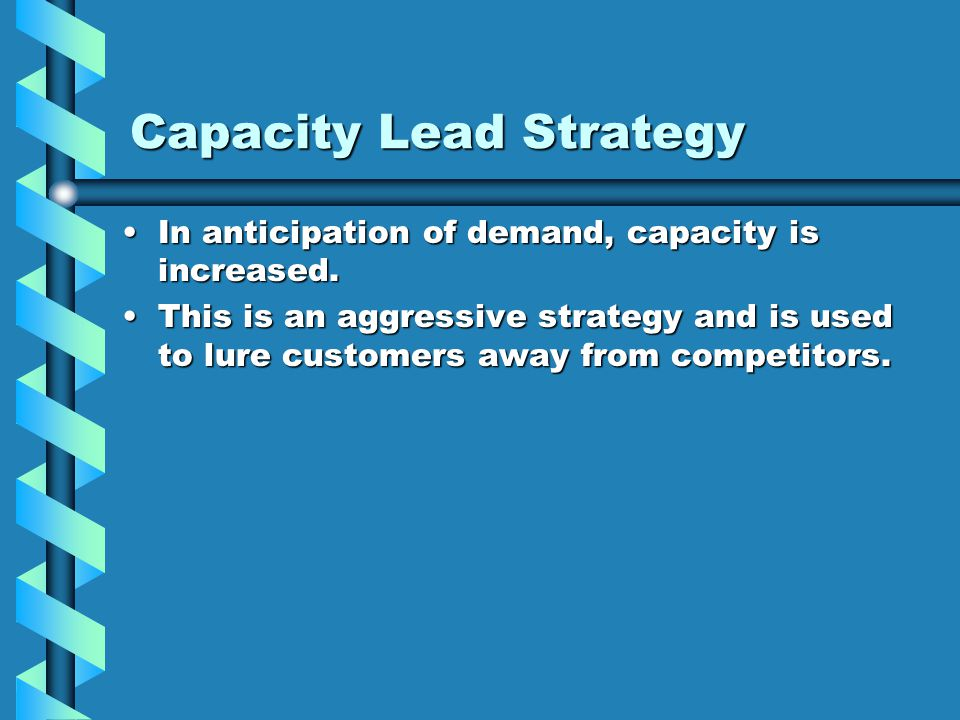 Capacity Lead Strategy