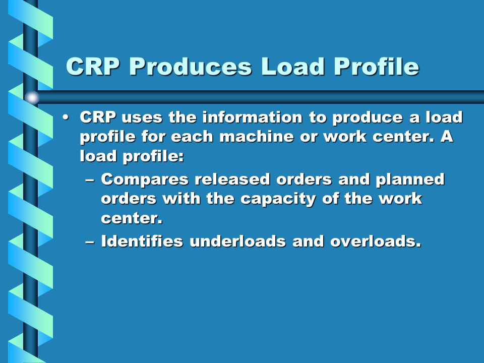 CRP Produces Load Profile