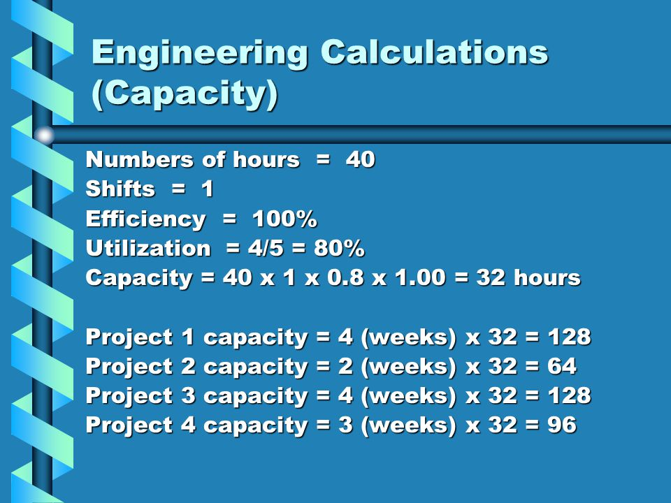 Engineering Calculations (Capacity)