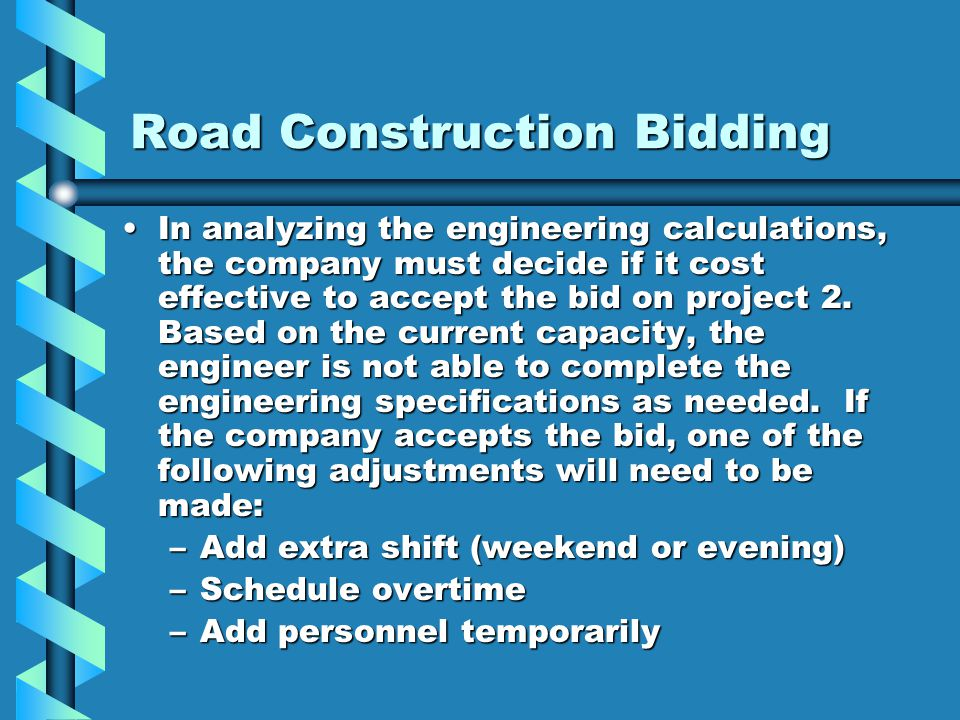 Road Construction Bidding