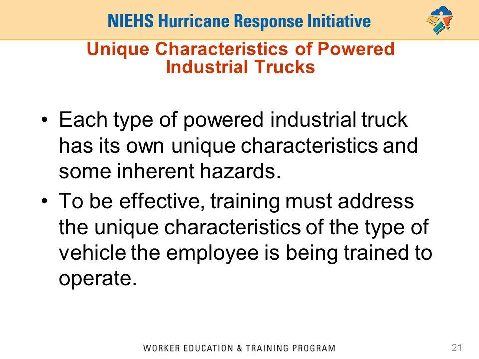 Unique Characteristics of Powered Industrial Trucks
