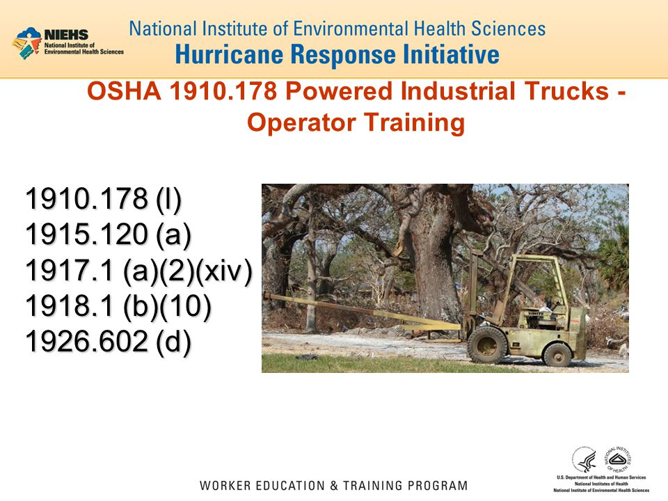 OSHA 1910.178 Powered Industrial Trucks - Operator Training