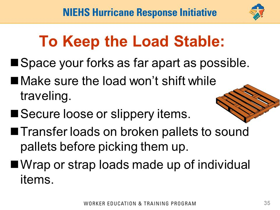 To Keep the Load Stable: