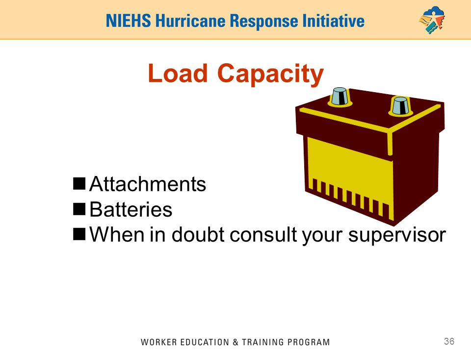 Load Capacity Attachments Batteries