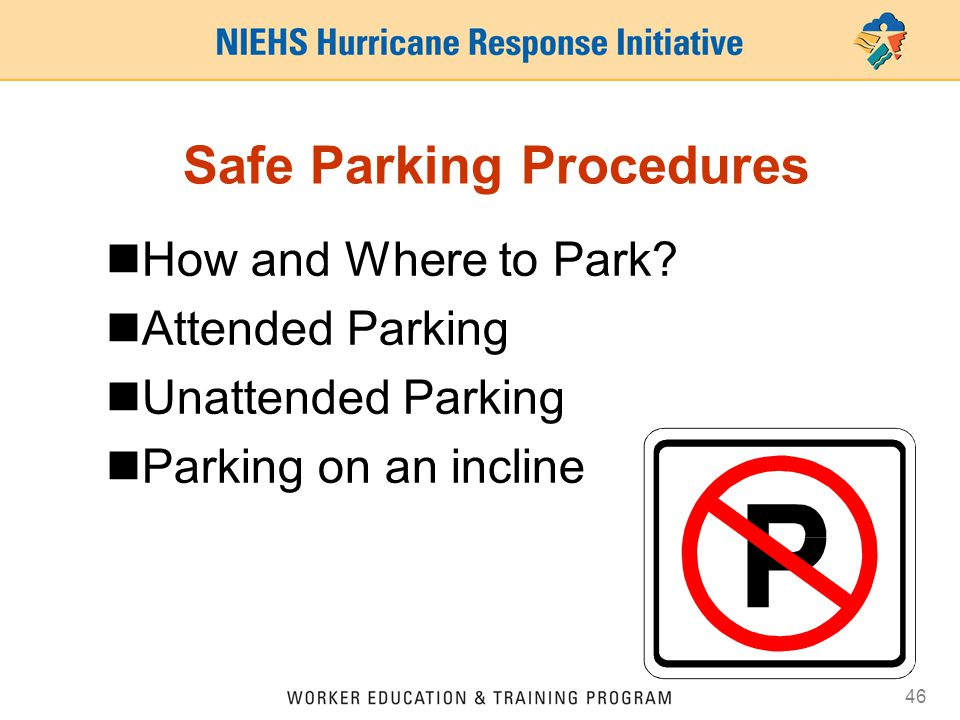 Safe Parking Procedures