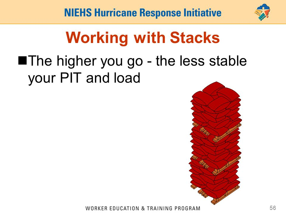 Working with Stacks The higher you go - the less stable your PIT and load 41