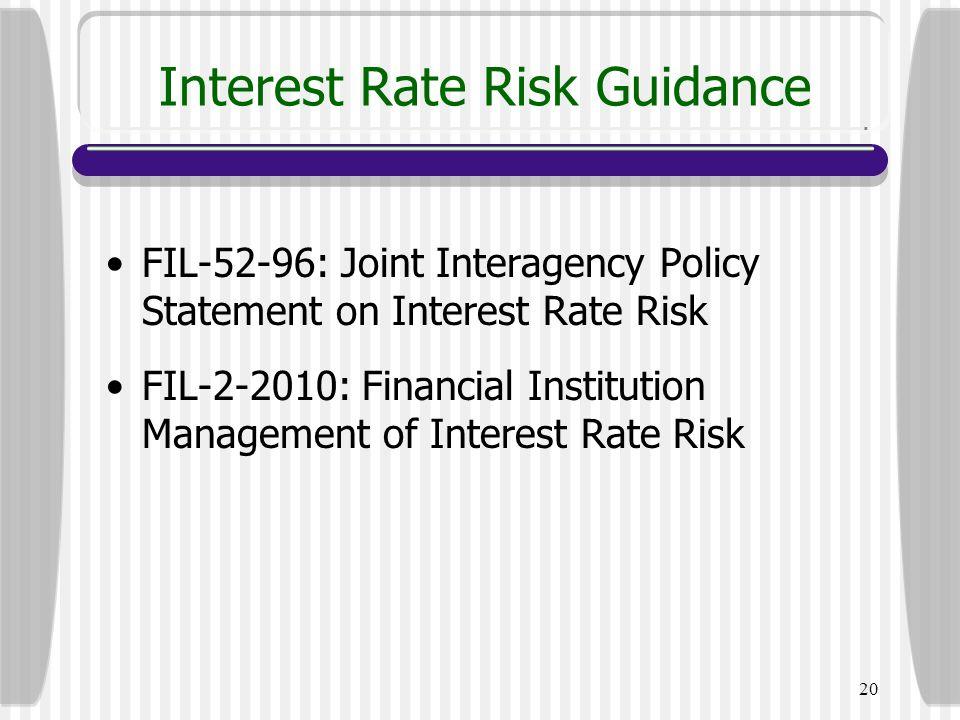 Interest Rate Risk Guidance