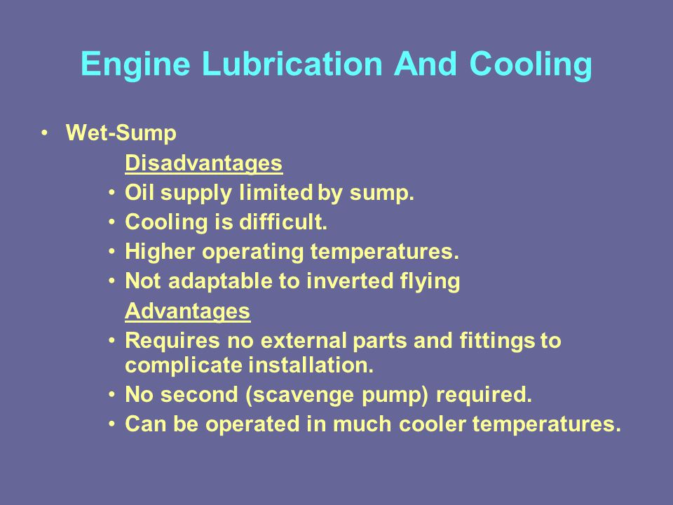 Engine Lubrication And Cooling