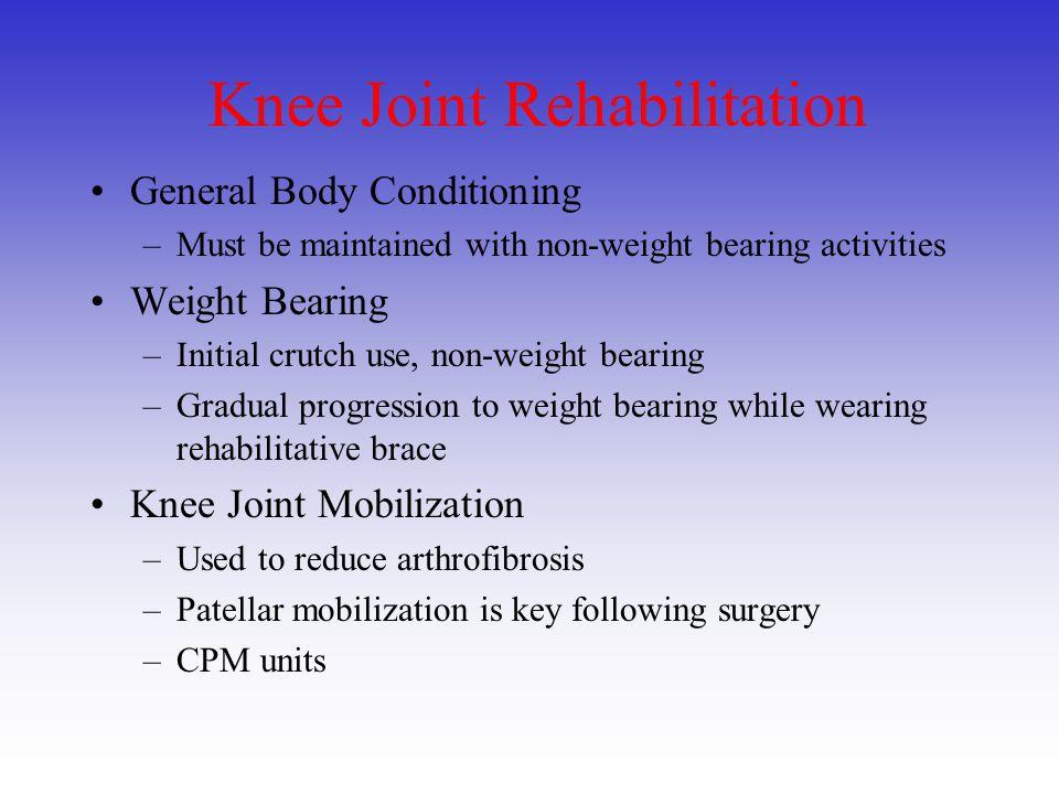 Knee Joint Rehabilitation